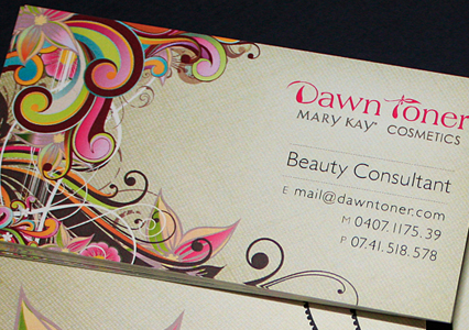 Dawn Toner - Beauty Consultant Business Cards