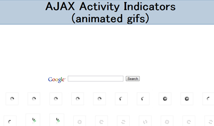 AJAX Activity Indicators