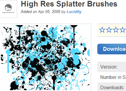 High Res Splatter Brushes