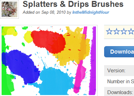 Splatters & Drips Brushes
