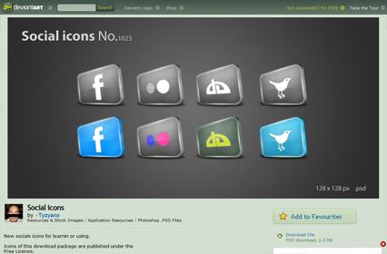 Social icons No.1023