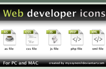 Web developer icons