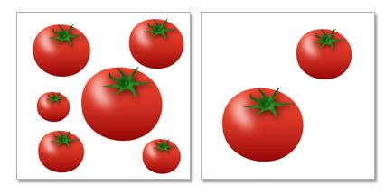 トマトの情報量の比較