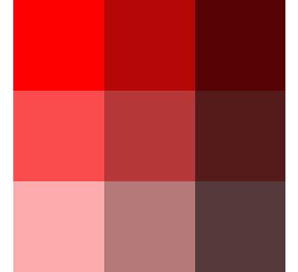 赤のパターン