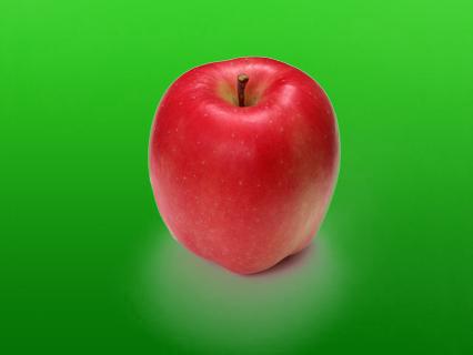 りんご背景あり