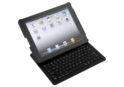 iBUFFALO iPad2専用 Bluetooth2.0対応 キーボードケース一体型【持ち運ぶ。立てる。すぐに入力!!iPad2ケースと一体になったキーボード。】 ブラック BSKBB10BK バッファロー